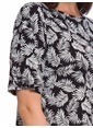 LC Waikiki Desenli Kısa Kollu Elbise Siyah